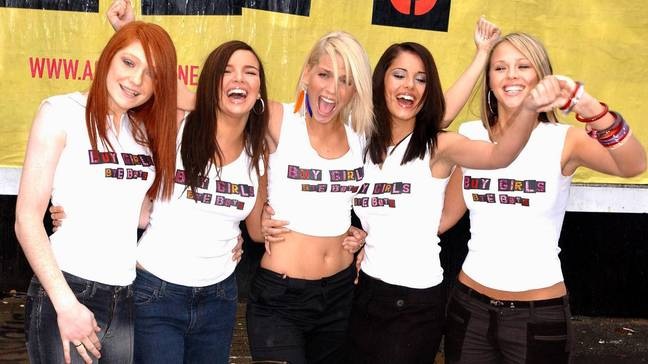 Girls Aloud won Popstars: The Rivals in 2002. From left to right; Nicola Roberts, 17, Nadine Coyle, 17, Sarah Harding, 20, Cheryl Tweedy, 19, and Kimberley Walsh, 20. (Credit: PA)