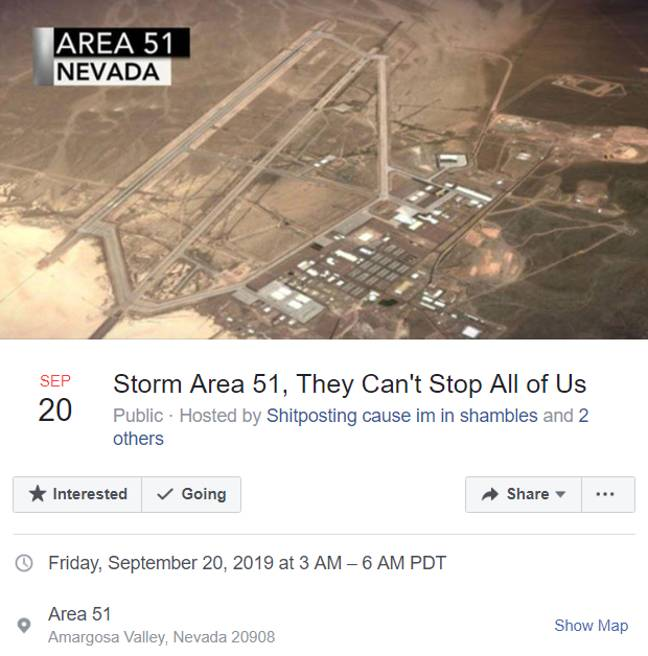 The Facebook event. Credit: Facebook