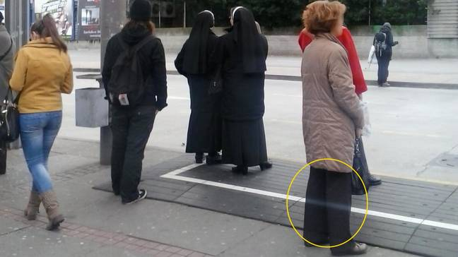 Tour Guide Shocked After Spotting 'Ghost' Waiting At A Bus Stop