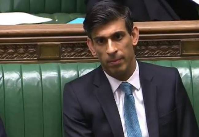 Rishi Sunak at the House of Commons today. Credit: ITV