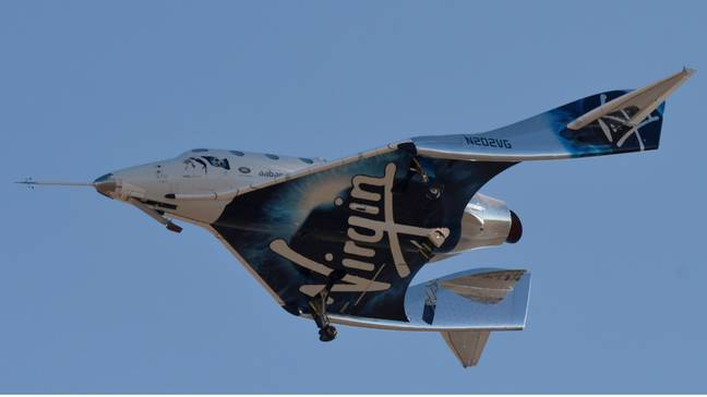 Virgin Galactic Successfully Launches Tourism Rocket Into Space. Credit: PA