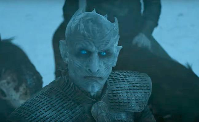 This happy character is the Night King. Credit: HBO