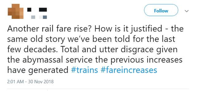 Commuters aren't happy about the price rises. Credit: Twitter