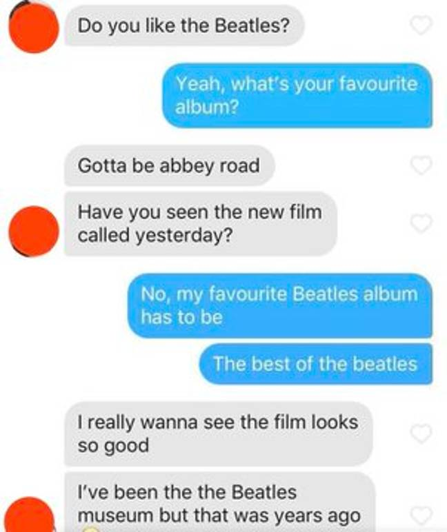 Dan North's Tinder match asked his opinion on the Beatles... Credit: Triangle News