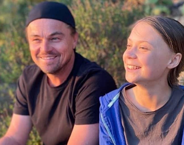 Leonardo DiCaprio said it was an 'honour' to meet Greta Thunberg. Credit: Instagram/Leonardo DiCaprio
