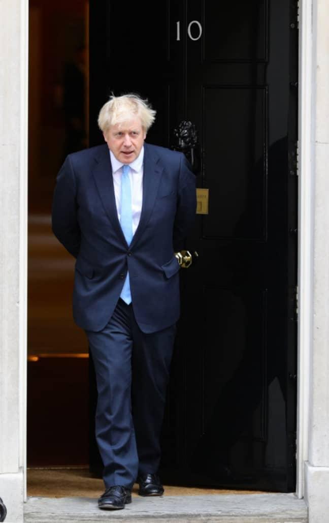 Johnson outside 10 Downing Street. Credit: PA