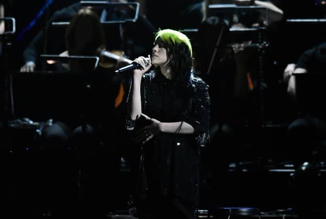 Eilish performing the song at last week's BRIT Awards. Credit: PA