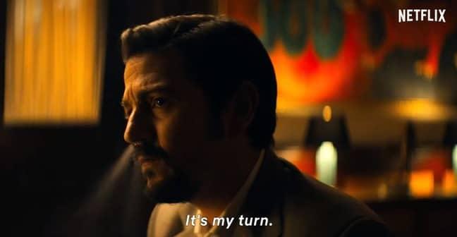 Miguel Ángel Félix Gallardo is now the Godfather of the Guadalajara cartel. Credit: Netflix