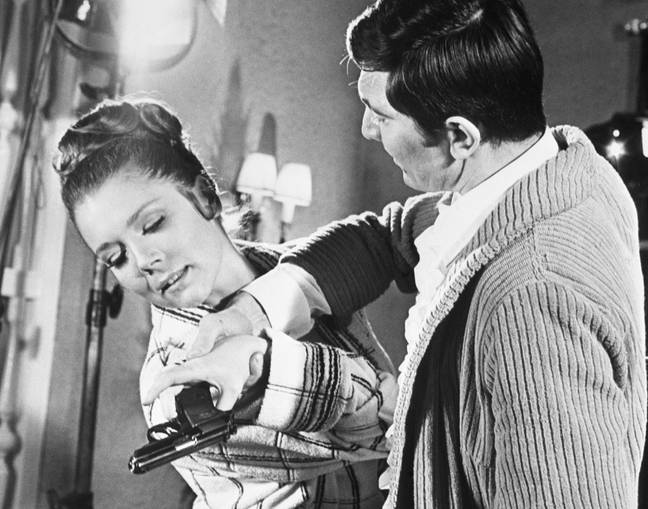 Diana Rigg and George Lazenby in On Her Majesty's Secret Service. Credit: PA