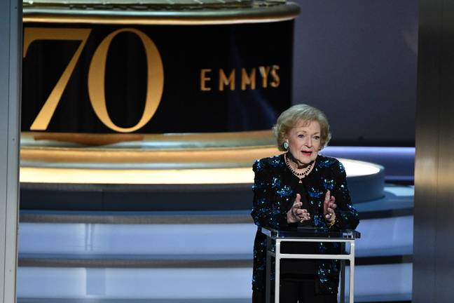 Betty White at the 70th Emmy Awards. Credit: PA