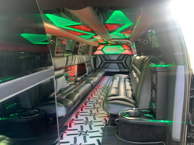 The inside of the limo that was waiting for Joe Exotic. Credit: Eric Love