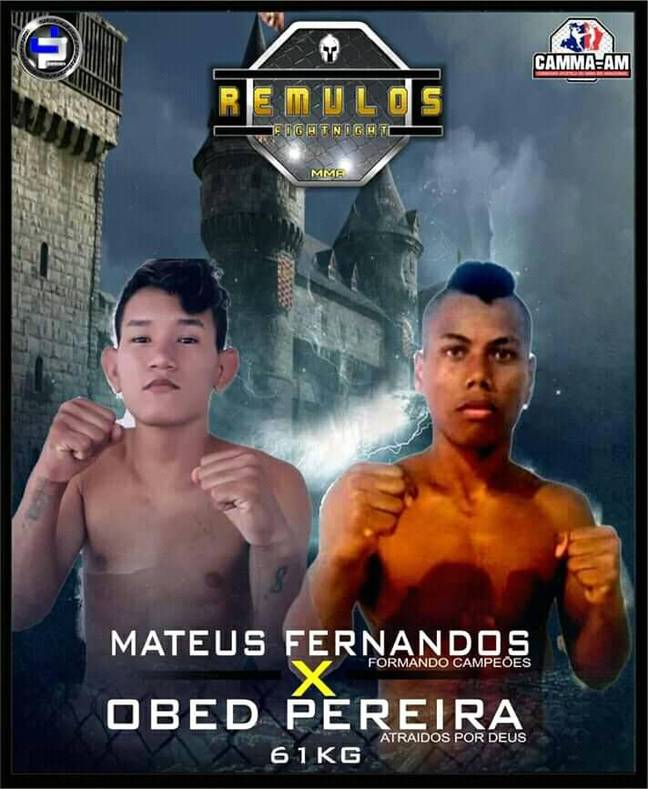 The 22-year-old was reportedly knocked down in the third round and required medical attention. Credit: Facebook/Mateus Fernandes