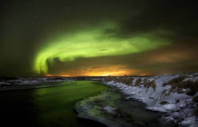 Auroa Borealis, viewed from Iceland. Credit: PA