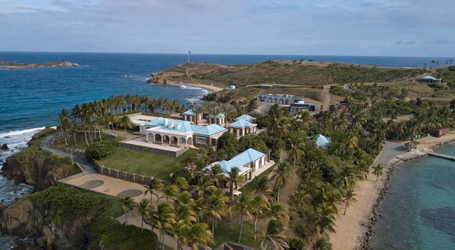 Epstein's private island. Credit: PA