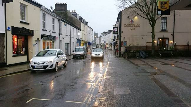 Tavistock in Devon was dubbed the 'angriest town'. Credit: SWNS