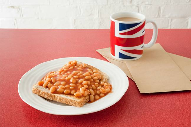 This is how a proper patriot has their beans on toast. Credit: Alamy