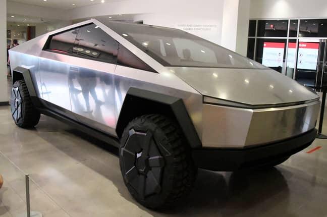 A Tesla Cybertruck. Credit: PA