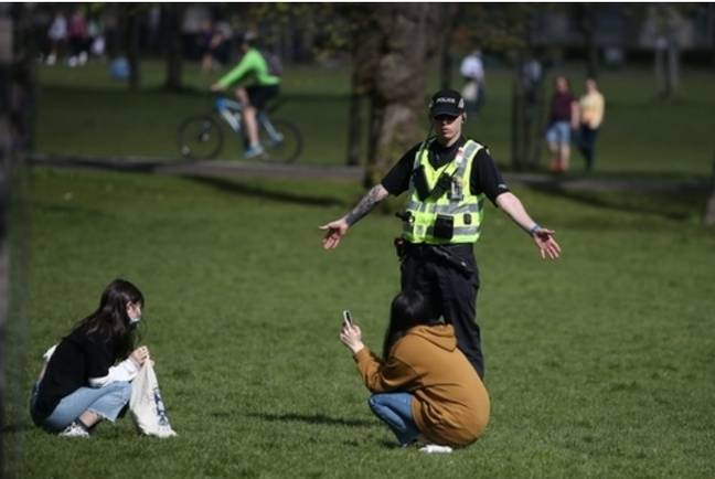 Police have issued 8,877 fixed penalty notices in England in the past month. Credit: PA