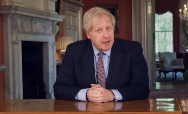 During the pre-recorded speech Boris Johnson outlined plans going forward. Credit: BBC