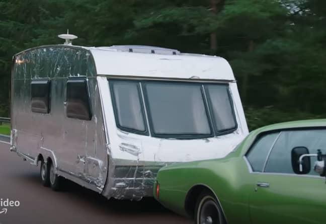 The caravan in question. Credit: Amazon Prime Video