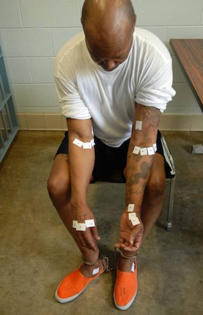 Romell's body was left with cuts from the failed attempts. Credit: Ohio Department of Rehabilitation and Correction