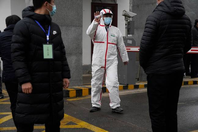 Marion Koopmans of a World Health Organization team arrives at the Hubei Center for Disease Control and Prevention in Wuhan. Credit: PA