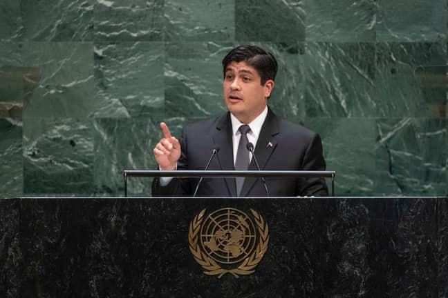 Costa Rican President Carlos Alvarado Quesada. Credit: PA