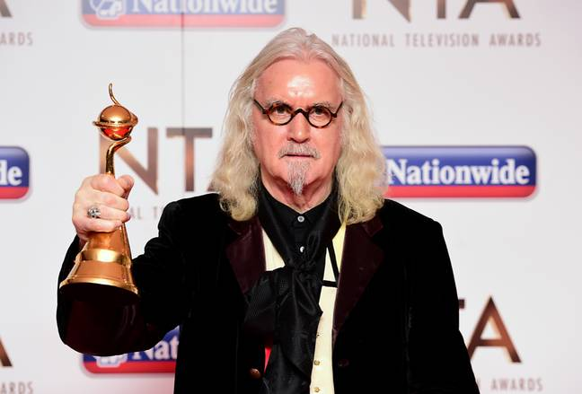 Billy Connolly with the Special Recognition Award at the 2016 National Television Awards. Credit: PA