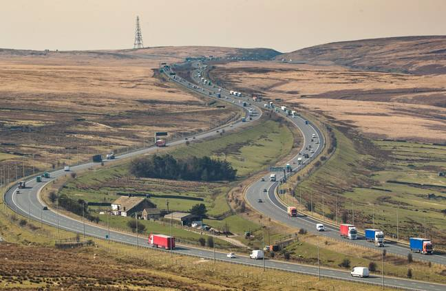 The house situated in the middle of the M62. Credit: PA