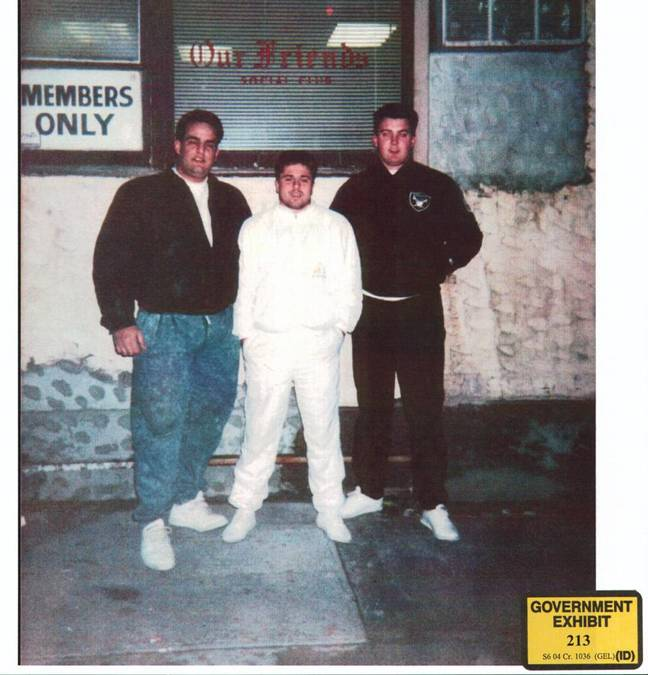 Alite (centre) became involved with the Gambino family from a young age, dealing cocaine and heroin. Credit: US Government evidence
