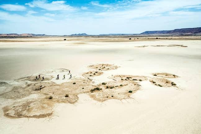 The brutal marathon in the Sahara Desert. Credit: Storytrender