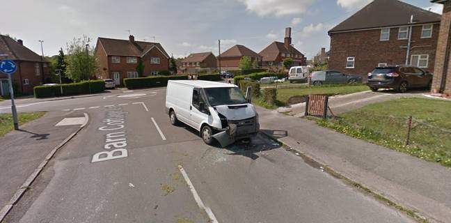 One of the white vans involved. Credit: Google Maps