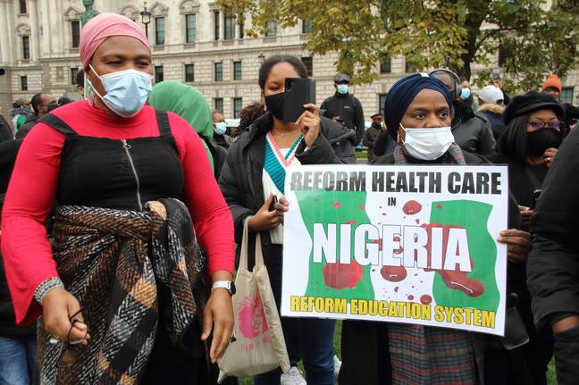Campaigners have long called for reform of health care and police in Nigeria. Credit: PA