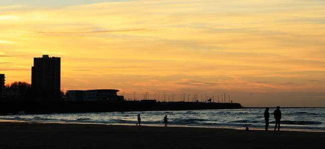 New Brighton promenade. Credit: PA