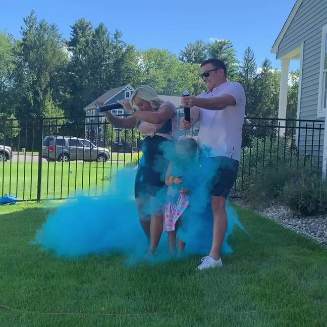 Kristin and Tom's gender reveal didn't quite go according to plan. Credit: Kennedy News and Media