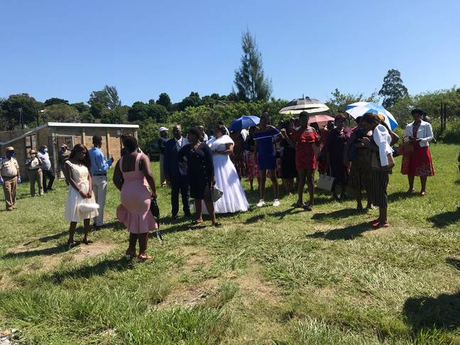 Over 500 people were arrested at the wedding, including the pastor. Credit: Twitter/uMhlathuze