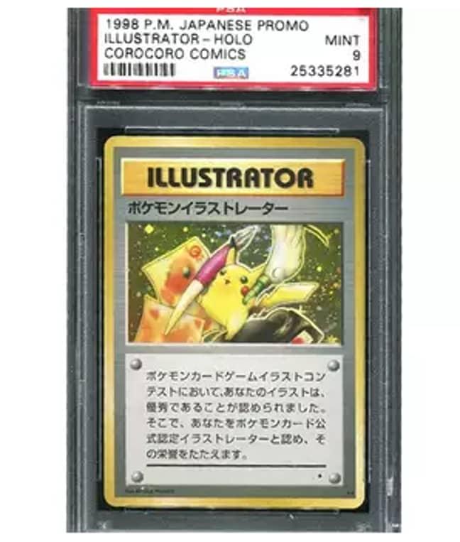 Pikachu Illustrator Card. Credit: Invaluable