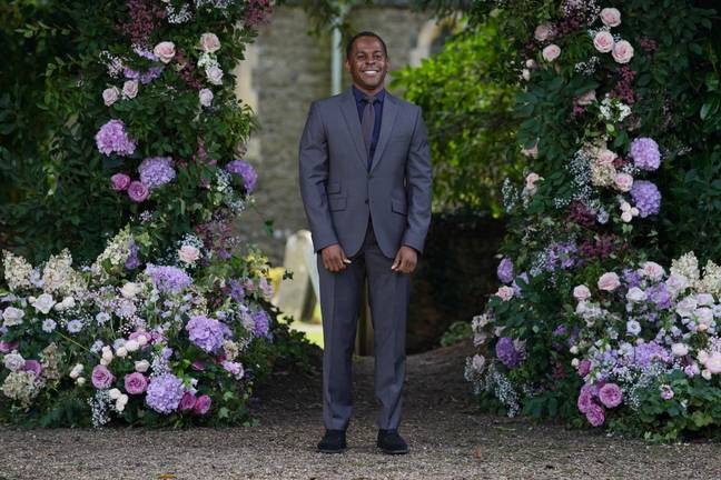Andi Peters arrives at St Michael's church. Credit: PA