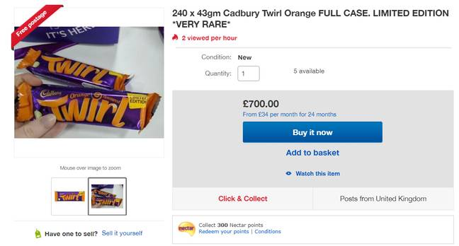 You can buy 240 bars for £700 on eBay. Credit: eBay