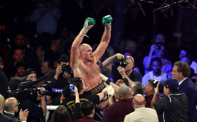 Fury after the fight in February 2020. Credit: PA