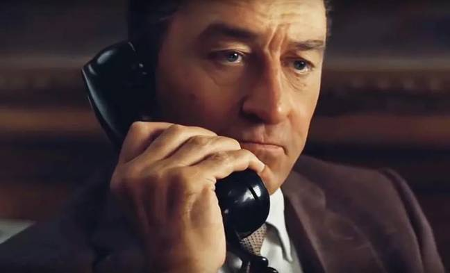 People who've seen the movie have been thrown by De Niro's piercing blue eyes. Credit: Netflix