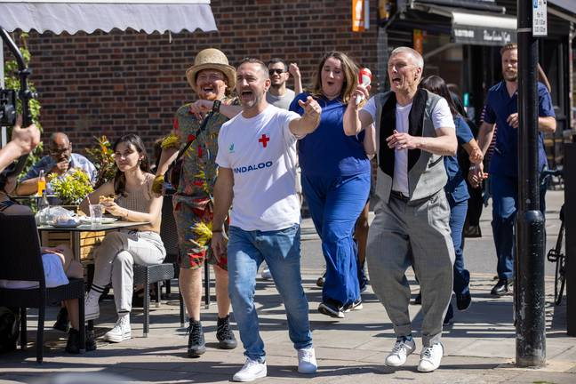 Leigh Francis, Will Mellor and Bez have filmed a music video for the song. Credit: PA