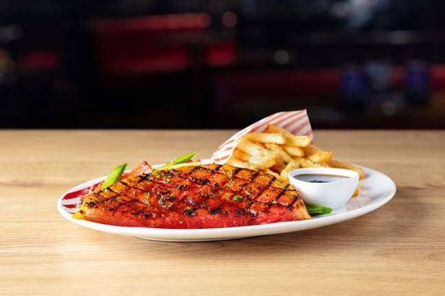 The watermelon steak from TGI Fridays. Credit: TGI Fridays