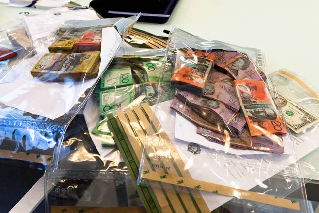 Images from the 2013 investigation by AFP. Credit: Australian Federal Police