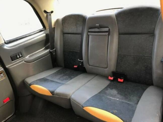 Those seats look a little sat on, shall we say. Credit: Fake Taxi/eBay