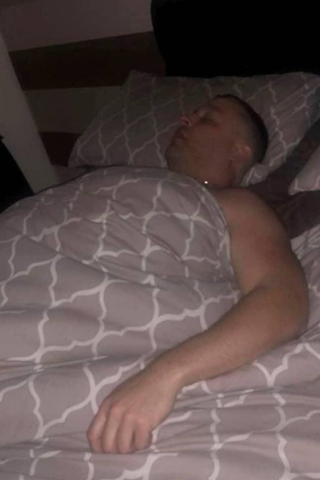 Damien in bed. Credit: Mercury