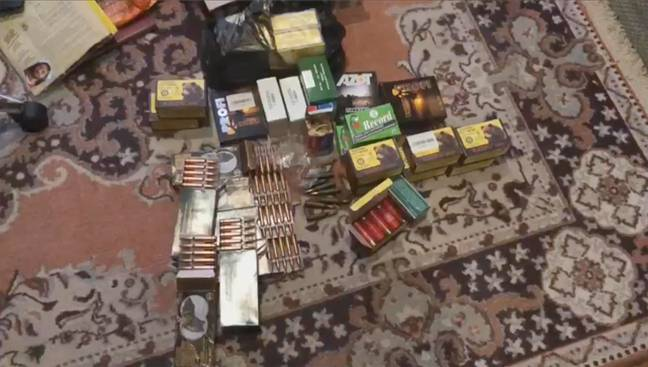 Cartridges found in Torop's house. Credit: East2West