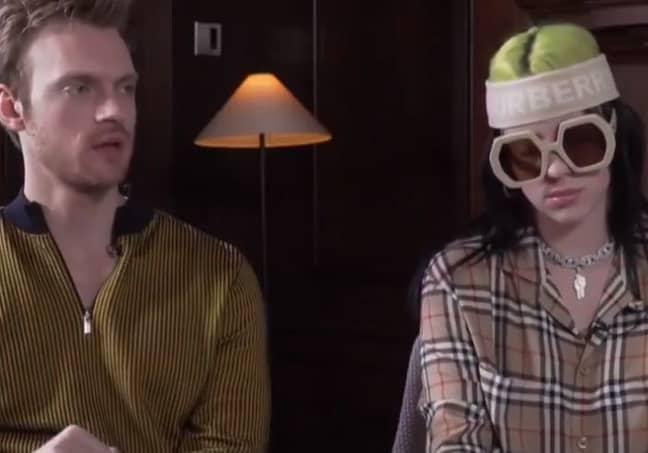 Billie and Finneas during their BBC interview. Credit: Twitter/BBC