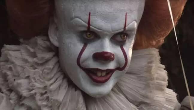 Bill Skarsgård as Pennywise. Credit: Warner Bros