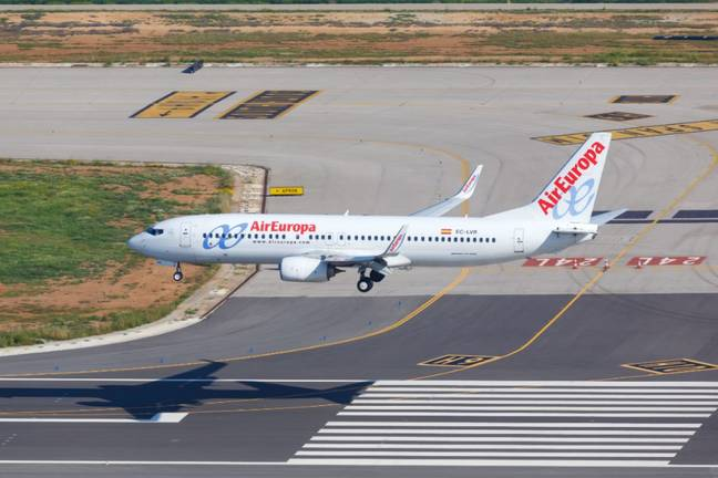 Stock image of Air Europa plane. Credit: PA